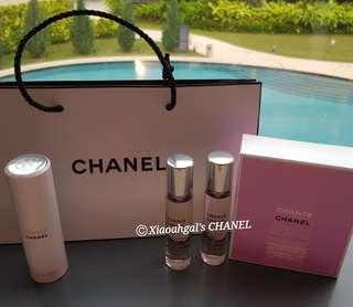 ❤$99 BID⏩My Followers/ $300 Non Followers❤ •Refill Available as I buy every few months ✔AUTHENTIC✔ 60ml (20ml x3) EDT CHANEL (Chanel) Eau Tendre Twist & Spray Purse Perfume (Handy & Convenient)💋No Pet No Smoker Clean Hse💋