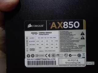 PSU Corsair Ax850 Full Modular Gold Preloved #maups4