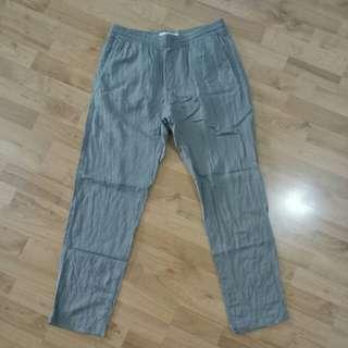 (S) H&M L.O.G.G. Label of Graded Goods Light Green Pants