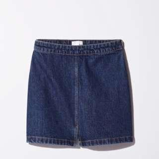 Aritzia Wilfred Free Denim Skirt