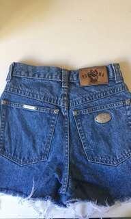 Puma Originals' high waisted denim shorts