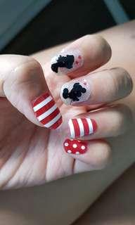 (Freebies!) Mickey & Minnie Nail Wraps / Foils - Chinese New Year Promotion