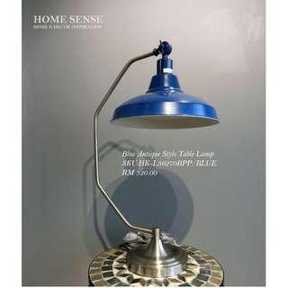 BLUE ANTIQUE STYLE TABLE LAMP