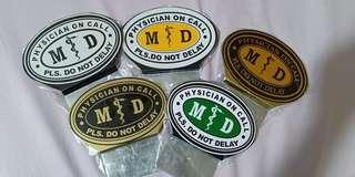 M.D. Car Plate for Sale