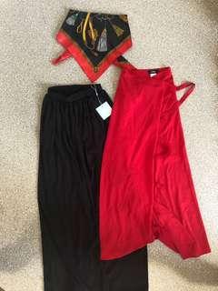 Maxi skirts and bandana top
