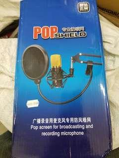 Pop shield for recording