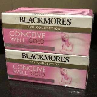 Blackmores Conceive Well Gold 2 boxes   Exp Feb 2020