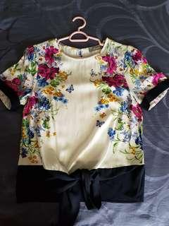 Oasis floral top size UK6