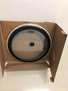 """Evans 22"""" EMAD (2-ply) Clear Batter Drum Head"""