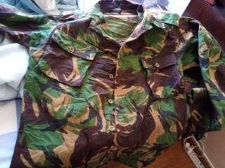 英軍80年代迷彩服一套