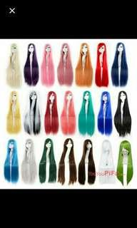 (NO INSTOCKS!)Preorder 100cm long Anime cosplay wig *waiting time 15 days after payment is made*pm to order
