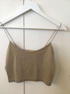 gold and black crop tops