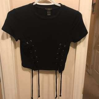 Croptop with criss cross detail