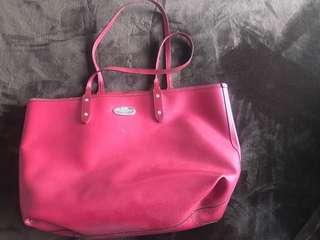 Authentic Red Coach Tote Bag
