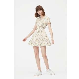 AFA KIT DANDELION SWING DRESS IN WHITE