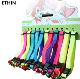COLORFUL NYLON PET COLLAR WITH BELL via free mailing