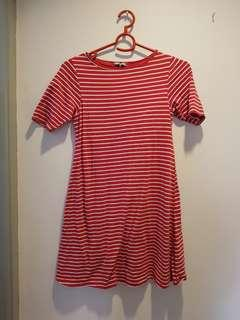 Red Stripe Maternity Dress
