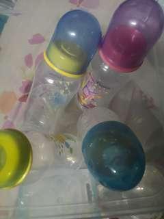 Pureen baby bottle with assorted nipple