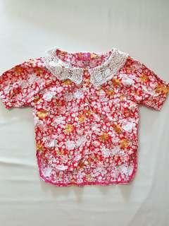CNY Girl Red Blouse (Toddler 3-5)