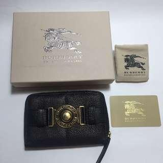 Burberry grain leather wallet