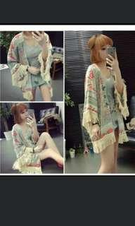 Po Tassel tribal fringed kimono outwear *waiting time 15days after payment is made *Chat to buy if int