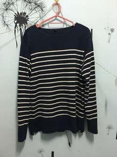 Uniqlo striped long sleeve shirt