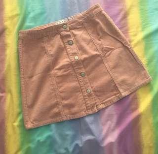 Button skirt peach