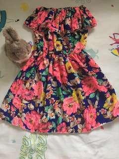 (BN) Floral Off Shoulder Dress