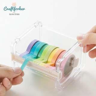 🚚 Washi Tape Cutter, Dispenser, Holder for Adhesive Tape, Masking Tape, Craft Supplies