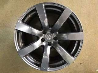 """20"""" 5x114 Nissan GTR oem used rim 1pc $150"""