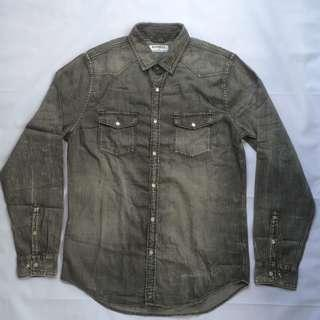 Kemeja Chambray Express Washed Fabric