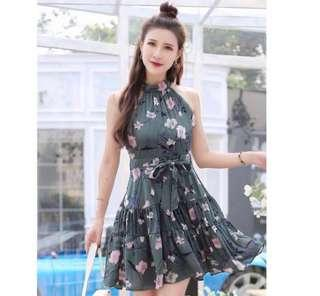 🌷(IN STOCK) Cut In Floral Dress Jade