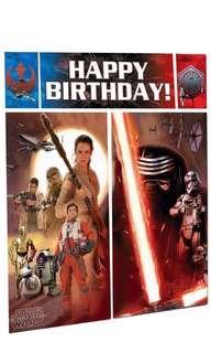 Licensed Star Wars party supplies- Star Wars scene setter/ birthday deco / birthday banner