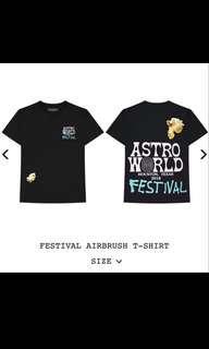 Travis Scott Astroworld Airbrush Festival Tee
