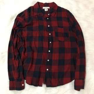 H&M Flanned Plaid Checkered Long Sleeves