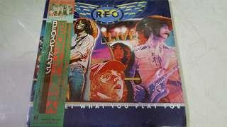 REO speedwagon (you get what u play for live) 2 Lp jap press with obi