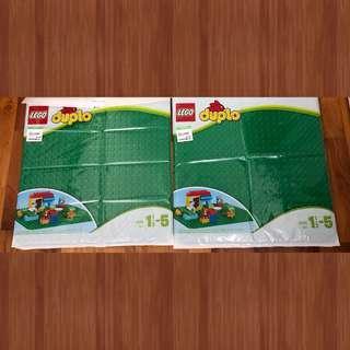 2 x Original Lego Duplo Base Plates 2304 Green Baseplates