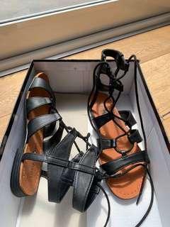 London rebel black high top  sandals