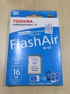 Toshiba Flash Air Wireless SD Memory Card 16 GB