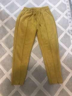 NEW yellow suede pants legging