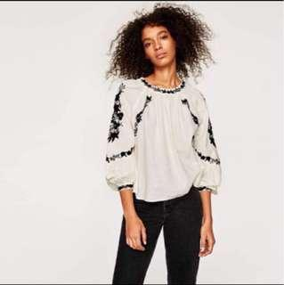 Zara Short Tunic with Embroidery Top