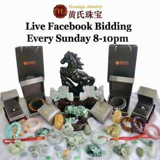 Live Facebook Bidding every Sunday!!! 8-10pm!