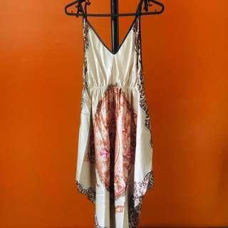 Elegant Nude Satin Dress