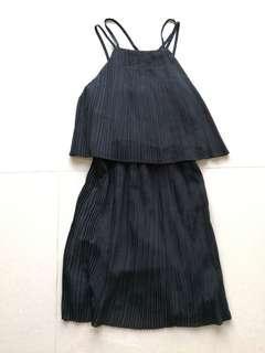 Something Borrowed pleated black dress