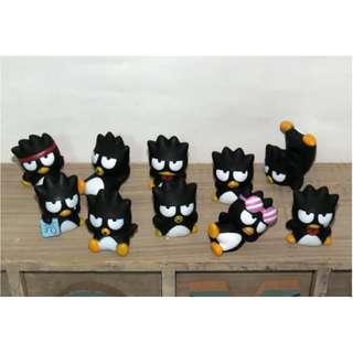三麗鷗 酷企鵝 收藏20年以上 絕版品 10隻都不同 公仔 擺件 擺飾 Bad Badtz-maru XO