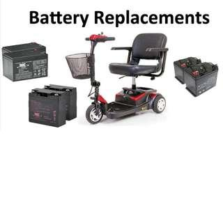 Battery Replacement for mobility scooter