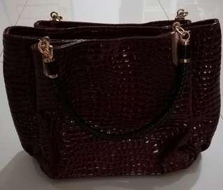Blood Red Classic/Vintage pre-loved handbag