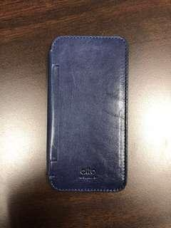 Alto Leather case book style for iPhone XS/X - Navy Blue