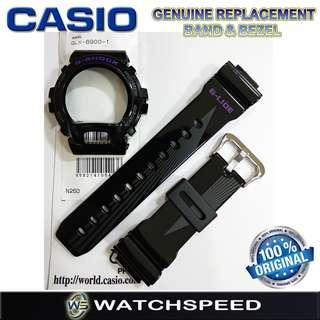 🚚 GLX-6900-1/GLX6900-1 Original Replacement Band and Bezel for Casio G-Shock