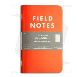 Field Notes Memo Expedition 3-Pack (Orange / Black) FNC-17 筆記本